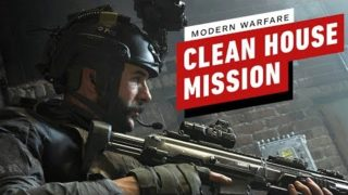 """Call of Duty: Modern Warfare """"Clean House"""" Mission Gameplay (4K 60FPS)"""